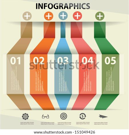 Vintage infographics,Banner for text,vector - stock vector
