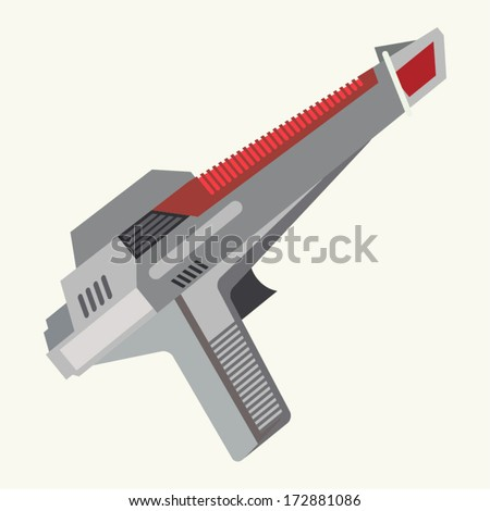 Vintage Inspired Ray Gun - stock vector