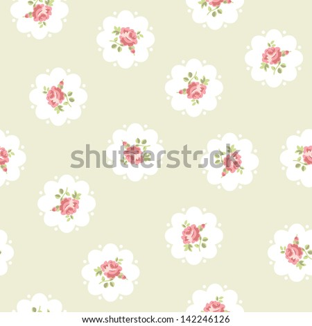 Vintage inspired vector seamless floral pattern - stock vector