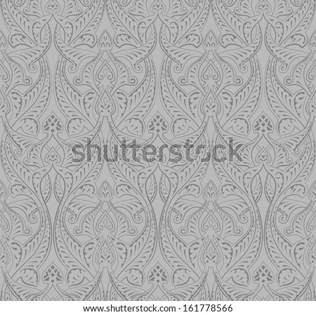 Vintage intricate seamless background tile based on Middle Eastern Arabic motif pattern - stock vector