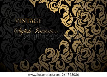 Vintage Invitation. - stock vector