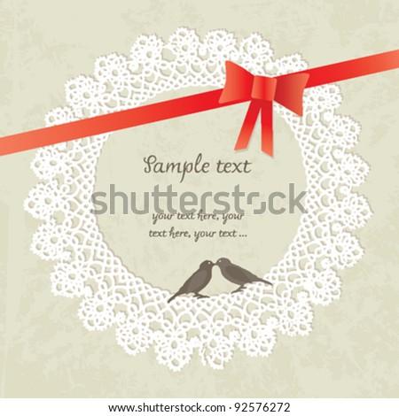 Vintage invitation card - stock vector