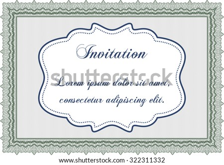 Vintage invitation. Customizable, Easy to edit and change colors.Good design. Printer friendly.  - stock vector