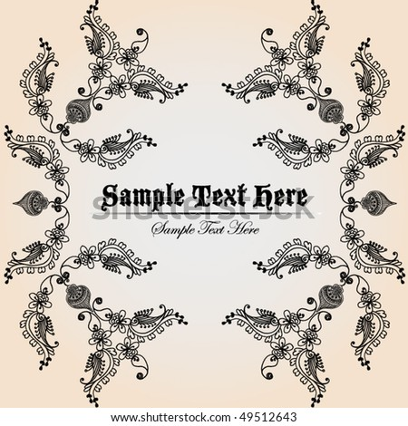 vintage invitation/greeting background - stock vector