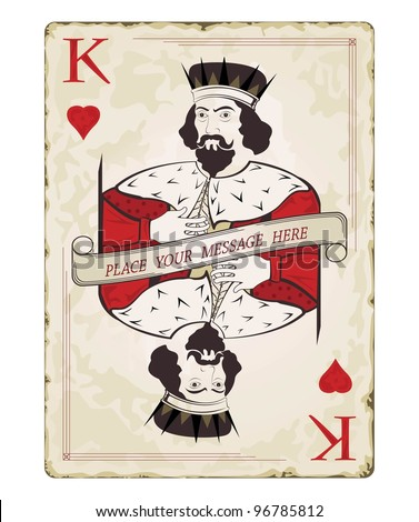 Vintage king of hearts, playing card