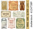vintage label border style - stock vector