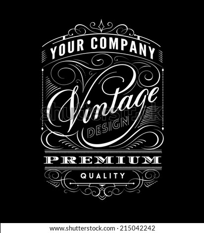 Vintage Label Design.  - stock vector