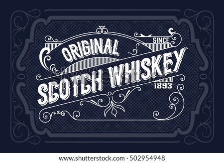 Vintage Label Design Whiskey Wine Label Stock Vector HD (Royalty Free)  502954948   Shutterstock