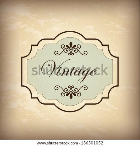 Vintage label over old background vector illustration - stock vector