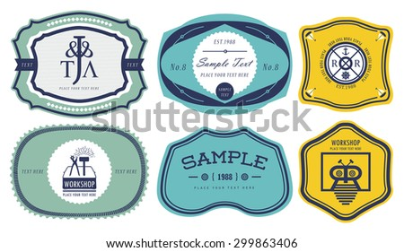 Vintage labels 4 - stock vector