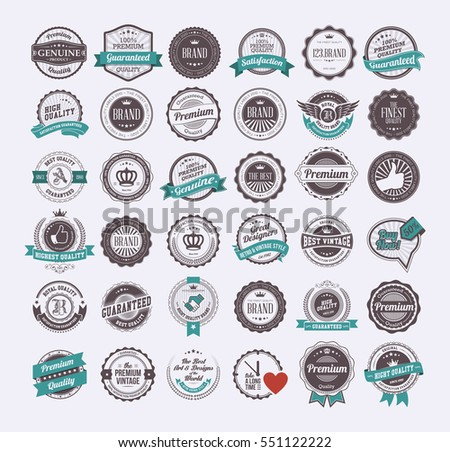 Vintage labels and logotypes design vector