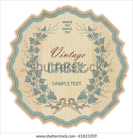 vintage labels set, vector - stock vector