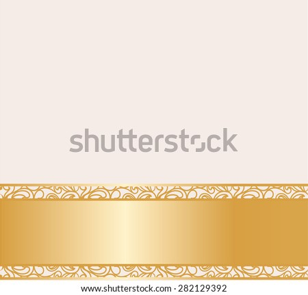 Vintage lace background for envelope, card or invitation with abstract lace borders. Beige color. Vector - stock vector