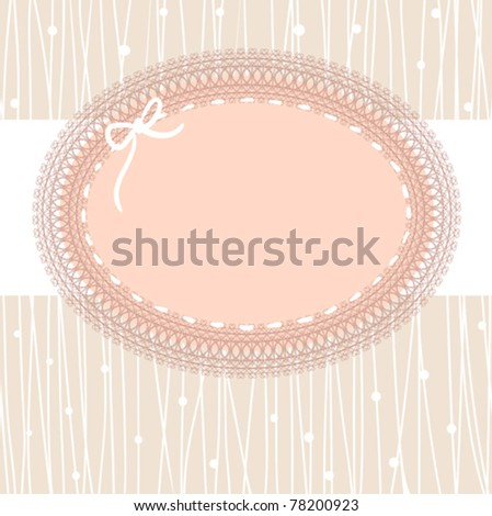 vintage lace frame - stock vector