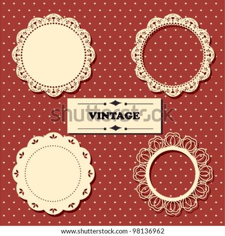 Vintage lace frames. - stock vector