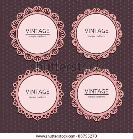 vintage lace frames. vector illustration - stock vector