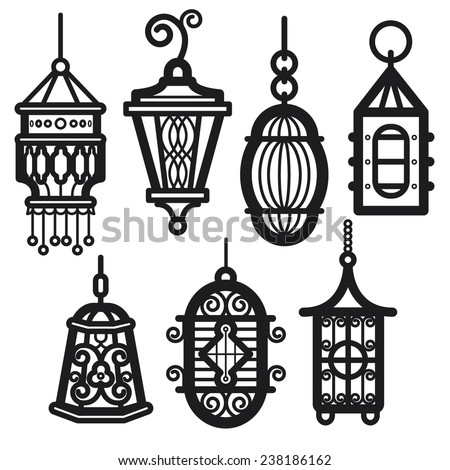Vintage Lantern Stock Vector 238186162
