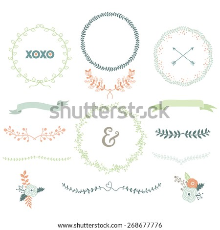 Vintage Laurels Wreath - stock vector