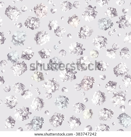Vintage little flower seamless pattern for wallpaper, textile, napkins, paper, pattern fills, web page background, surface textures - stock vector