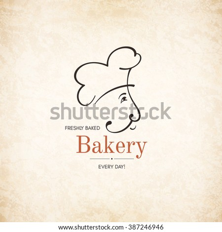 Vintage logotype for bakery - stock vector