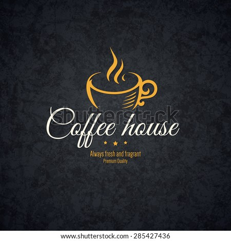 Vintage logotype for coffee house, cafeteria, bars, restaurant, tea shop - stock vector