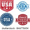 Vintage Made in USA Stamps - stock vector