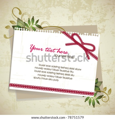 Vintage memo design - stock vector