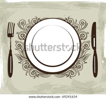 Vintage menu background - stock vector