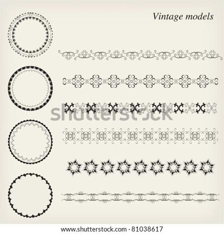 Vintage models - stock vector