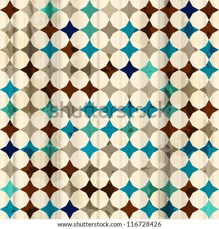 vintage mosaic seamless texture - stock vector