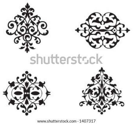 Vintage motifs - stock vector