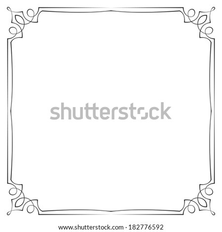 Vintage multilayer vector frame with swirls - stock vector