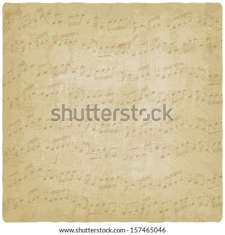 Vintage music background - vector illustration - stock vector
