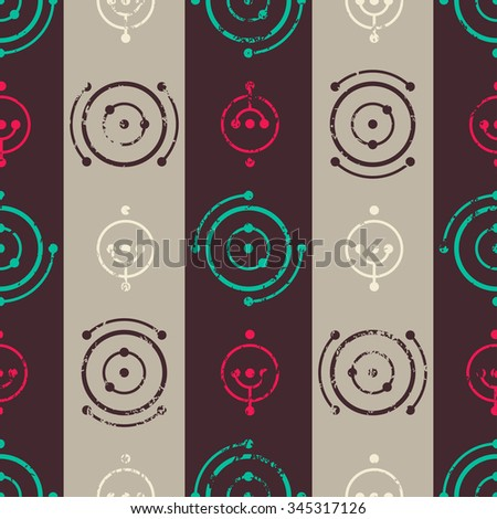 Vintage music seamless pattern. - stock vector
