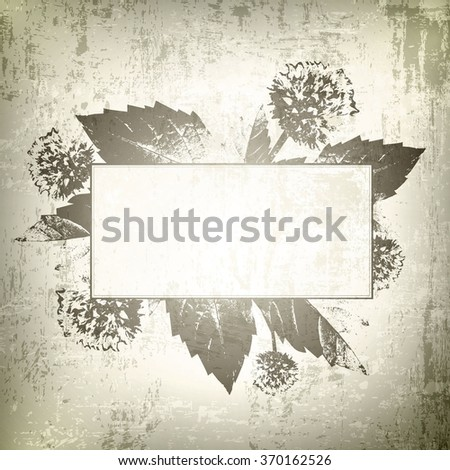 Vintage Natural Floral Frame Background With Copyspace - stock vector