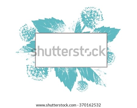 Vintage Natural Floral Frame With Copyspace - stock vector