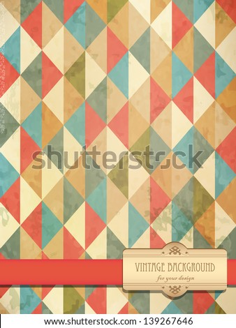 Vintage old circus ornament. Useful as background for design works. - stock vector