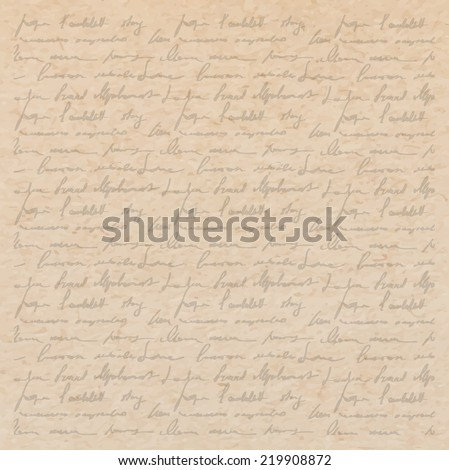 Vintage Old Paper Texture With Handwriting Letter Poems Background Scrapbooking Victorian Style Page