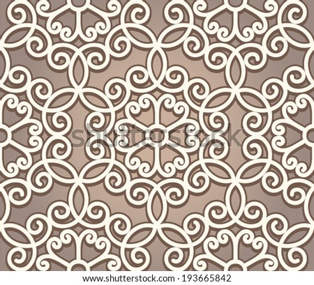 Vintage ornament, lace texture, vector seamless pattern - stock vector