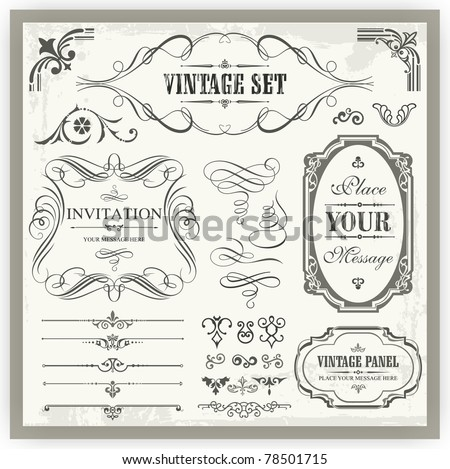 Vintage ornamental and page decoration design elements.