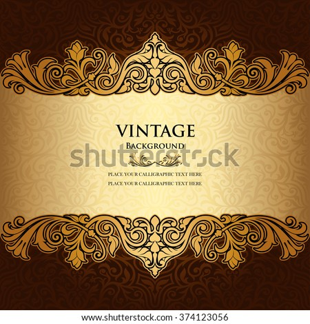 Vintage Ornamental background, Floral beautiful ornament, Creative book and page cover and frames element, ornate, elegant pattern template, rich layout, pattern template for design - stock vector