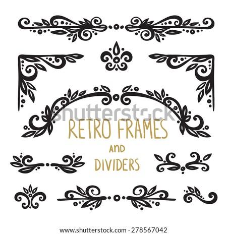 Vintage Ornamental Calligraphic Designs Set - stock vector