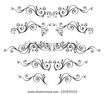 Vintage ornamental vector frames - stock vector