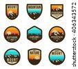 Vintage Outdoor camp and Mountain Logo Badges