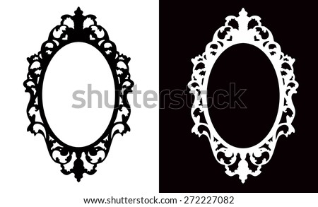 Vintage Oval Frame - stock vector