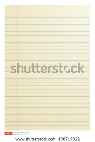 Vintage paper line vector format - stock vector