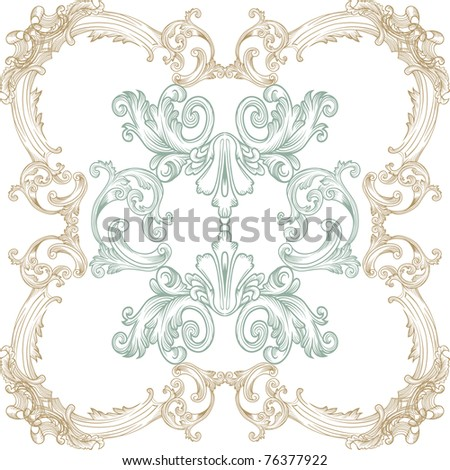 vintage pattern - stock vector