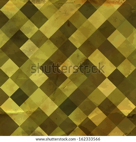 Vintage pattern with grunge effect. Seamless pattern can be used for wallpaper, surface textures, web design. Endless retro geometric backdrop. Old style tiles seamless background. Vector illustration