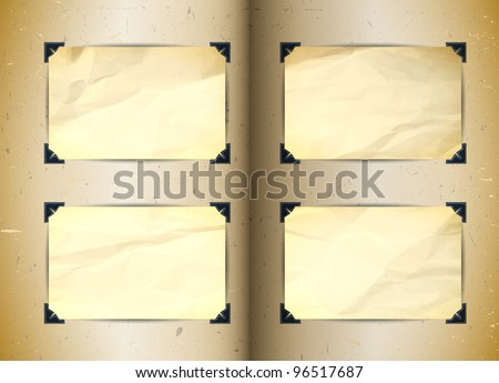 Vintage photo album - stock vector