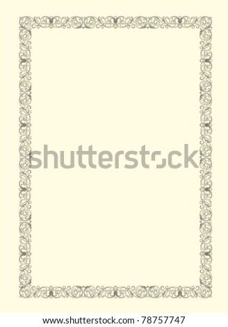 vintage photo frame ornamental vector in seventeenth-century French  style